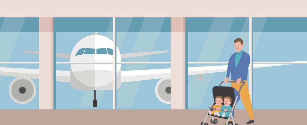 aéroport bébé voyage